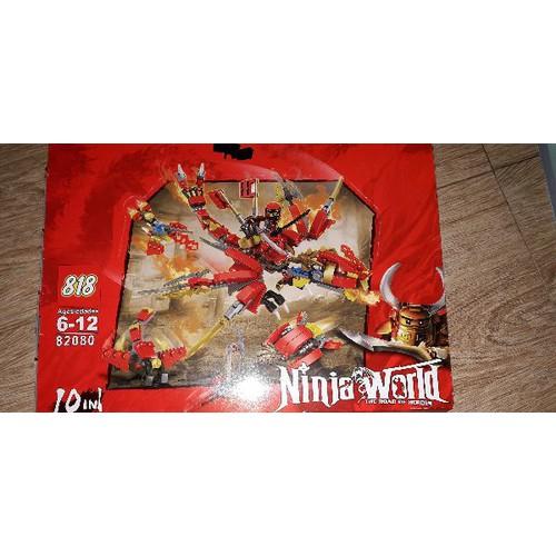 Lắp ráp 1 bộ NLego Ninjago Word Rồng có 200 chi tiết 82080