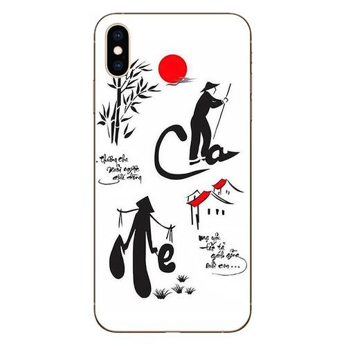 Ốp lưng điện thoại iphone XS Max - Cha Mẹ 02