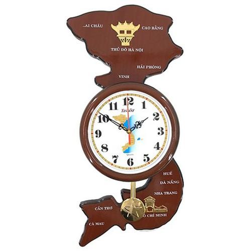 Đồng hồ treo tường hình bản đồ Việt Nam - PK096