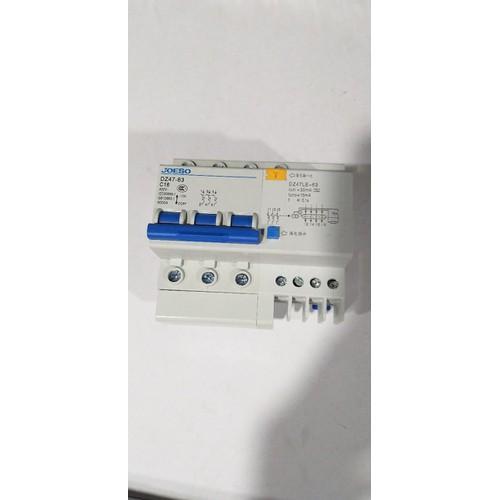 Combo aptomate chống gật 3pha 63A và đèn pha led 30w