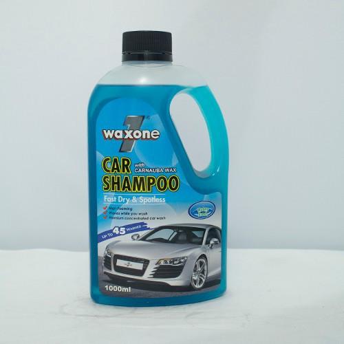 Xà bông rửa xe và làm bóng xe WAXONE 1 CAR SHAMPOO Hương Ozone Fresh 1Lít