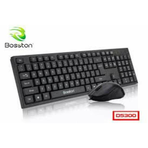 Combo Phím Chuột Dây BOSSTON D5300 Khắc Laser