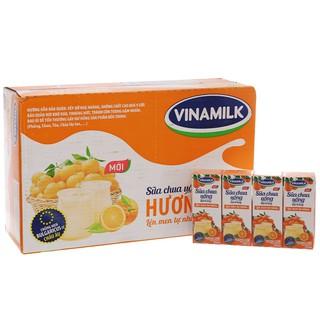 Thùng 48 hộp sữa chua uống Vinamilk cam 170ml - 18934673316443 thumbnail