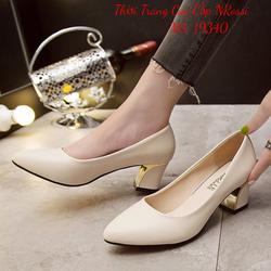 Giày Cao Gót Công Sở Gót Vuông 5 cm Cho Phụ Nữ Trung Niên Size Lớn 40 41 42 43 NROSSI