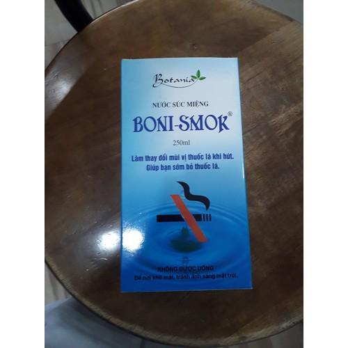 Nước Súc Miệng  BONI-SMOK 250ml - Hàng Chính Hãng