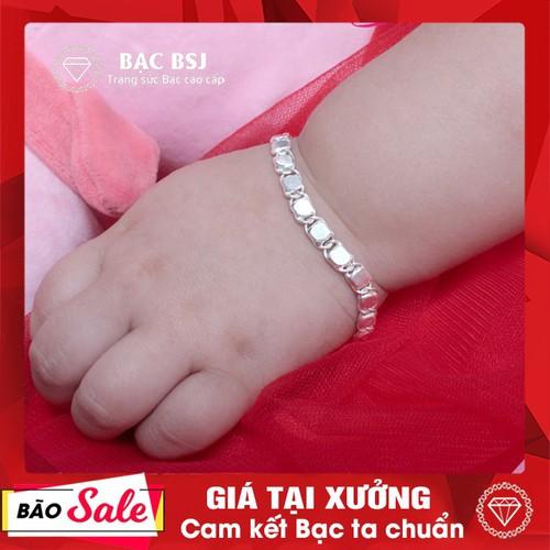 Lắc tay bạc cho bé chất liệu bạc ta cao cấp, vòng tay bạc, lắc bạc cho bé sơ sinh, lắc tay bạc cho bé, lắc chân bạc cho bé, lắc tay bạc cho bé trai. Bạc BSJ