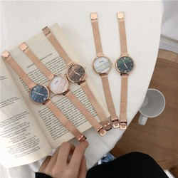 [GIÁ SHOCK] Đồng hồ nữ thời trang dây thép lưới, FULLBOX + BH 12 tháng+Hỗ trợ ship