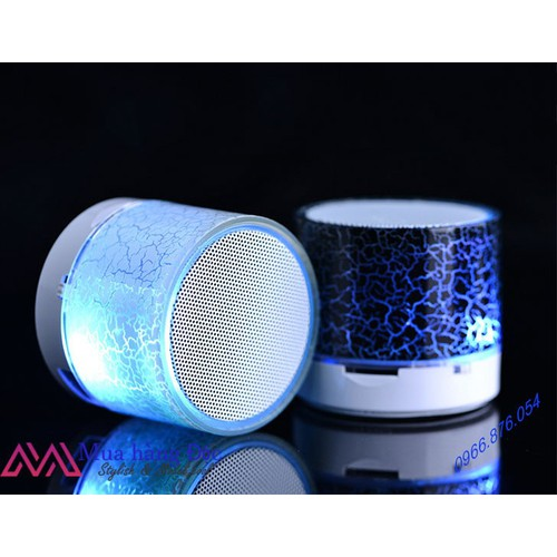 Loa mini blutooth Portable USB MP3 Âm nhạc Led Đèn