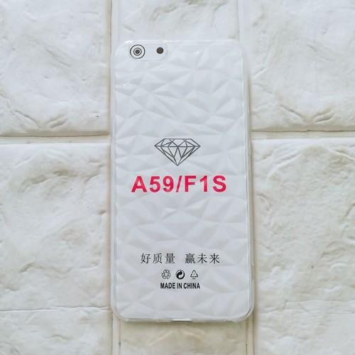 ốp Oppo A59 F1s kim cương trong suốt