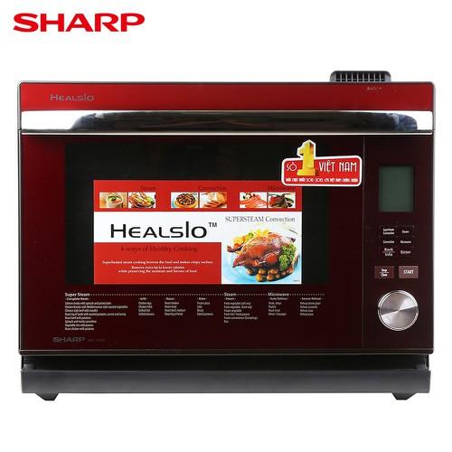 Lò vi sóng hơi nước siêu nhiệt có nướng Sharp AX-1600VN-R 31 lít