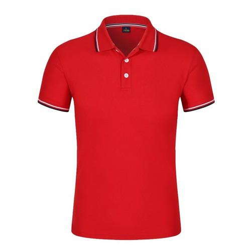 Áo thun nam ngắn tay có cổ màu Đỏ