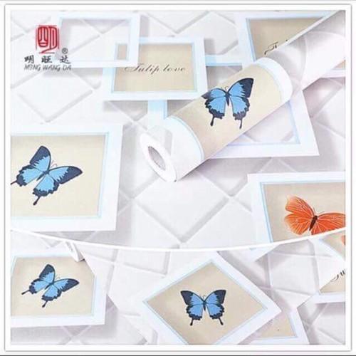 10m giấy dán tường bướm ô vuông khổ rộng 45cm có keo dán sẵn - 4766859 , 16811150 , 15_16811150 , 99000 , 10m-giay-dan-tuong-buom-o-vuong-kho-rong-45cm-co-keo-dan-san-15_16811150 , sendo.vn , 10m giấy dán tường bướm ô vuông khổ rộng 45cm có keo dán sẵn