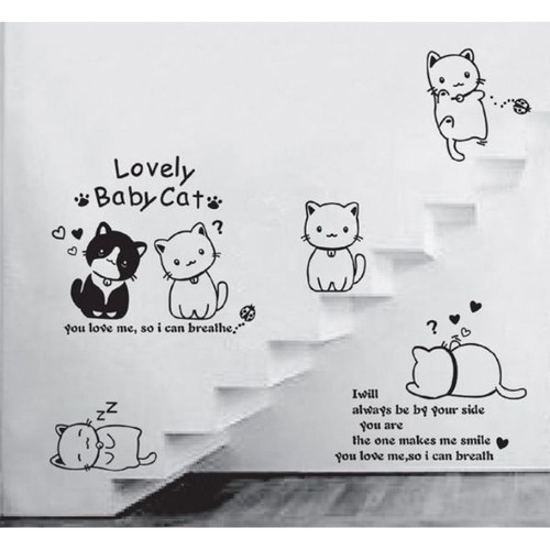 Decal dán tường Lovely baby cat - 6820999 , 16823638 , 15_16823638 , 50000 , Decal-dan-tuong-Lovely-baby-cat-15_16823638 , sendo.vn , Decal dán tường Lovely baby cat