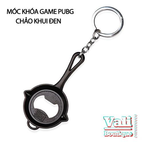 Móc khóa game PUBG - chảo khui nắp đen