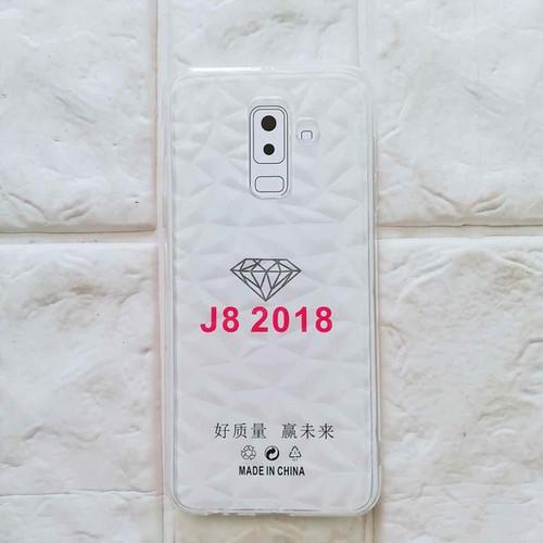 Ốp lưng Samsung J8 kim cường trong suốt