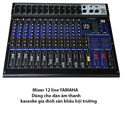 Bàn mixer 12 line echo full digital cho dàn âm thanh