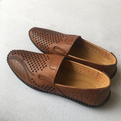 Giày hè nam da bò thật mẫu mới