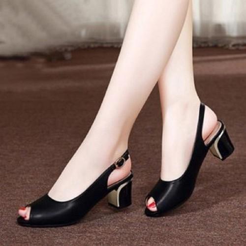 giày cao gót 5cm hở mũi hậu sau size nhỏ size lớn 33 34 40 41 42 43