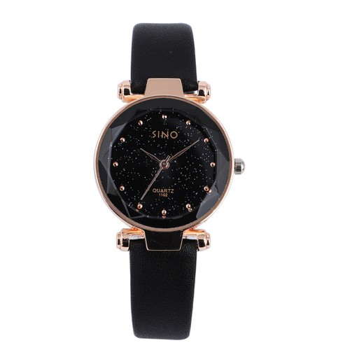 Đồng hồ nữ SINO JAPAN chống nước dây da cao cấp