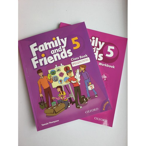 sách family and friends 5 class book workbook