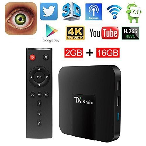 Android Tivi Box TX3 Mini Phiên Bản 2G Ram Và 16G Bộ Nhớ Trong - BH 2 Năm, MyK+, AndroidTV