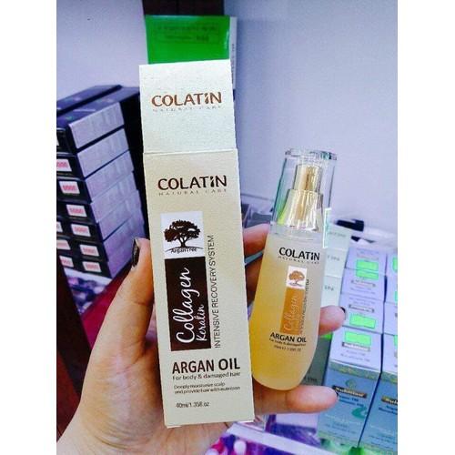 Tinh dầu dưỡng bóng tóc Colatin Arganoil Serum 40ml
