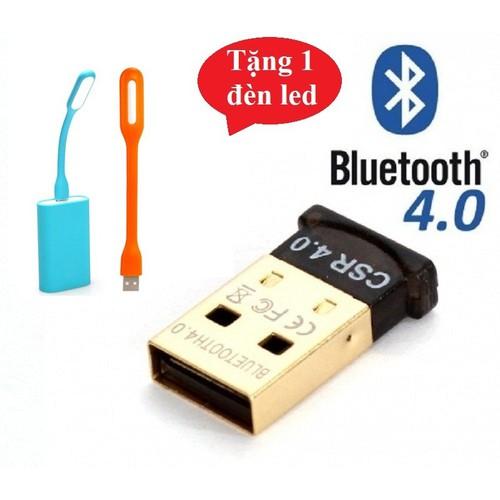 USB Bluetooth 4.0 dùng cho máy tính Laptop, PC + tặng đèn led USB