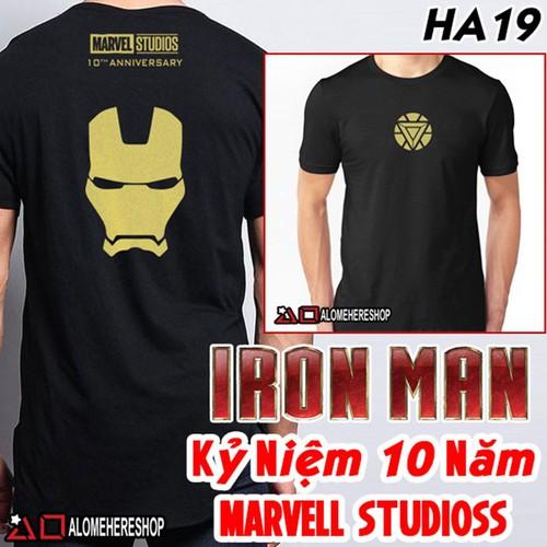 Áo Thun T-Shirt Siêu Anh Hùng Iron Man Phiên Bản Kỷ Niệm 10 Năm 2019