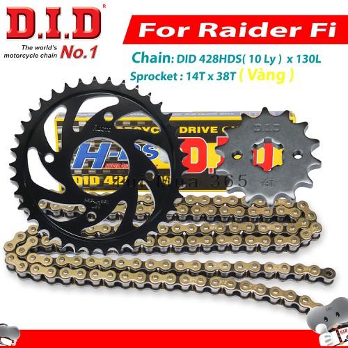 Nhông sên DID dĩa Recto Suzuki Raider Fi  Sên Vàng 130L 10ly Thái Lan 14T x 38T - 6806056 , 16811688 , 15_16811688 , 700000 , Nhong-sen-DID-dia-Recto-Suzuki-Raider-Fi-Sen-Vang-130L-10ly-Thai-Lan-14T-x-38T-15_16811688 , sendo.vn , Nhông sên DID dĩa Recto Suzuki Raider Fi  Sên Vàng 130L 10ly Thái Lan 14T x 38T