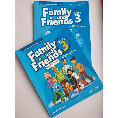 sách family and friends 3 class book -workbook