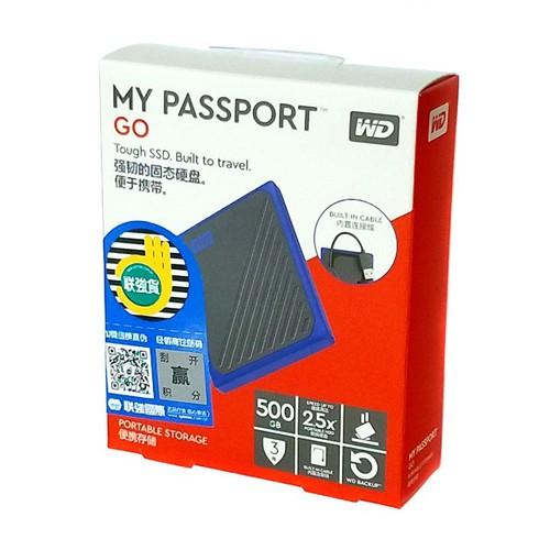 Ổ cứng SSD di động USB 3.0 WD My Passport Go 500GB - bảo hành 3 năm