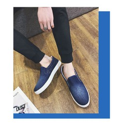 giày lười nam vải bò
