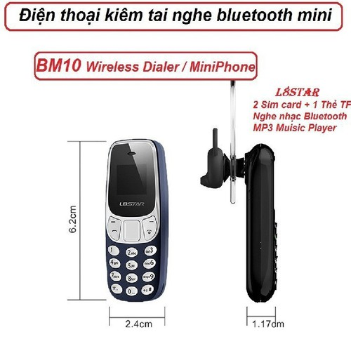 Tai Nghe Bluetooth Kiêm Điện Thoại Mini - tai nghe kiêm điện thoại