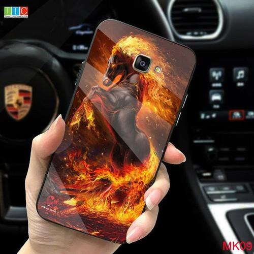 Ốp lưng Samsung Galaxy J7 prime in 3D hình ngựa mặt lưng kính cường lực sáng bóng