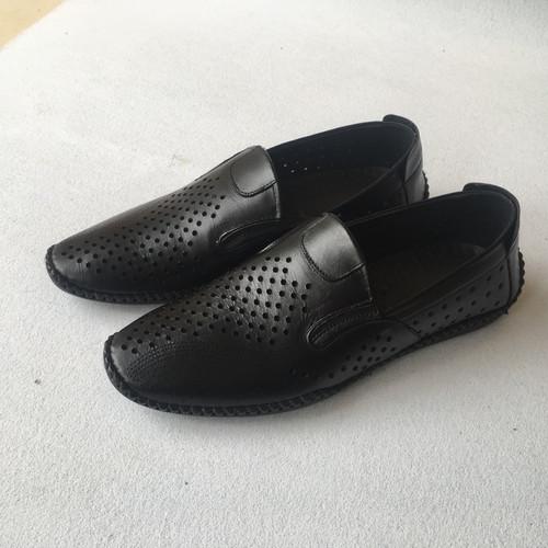 Giày luời nam mùa hè da bò thật bảo hành da 1 năm