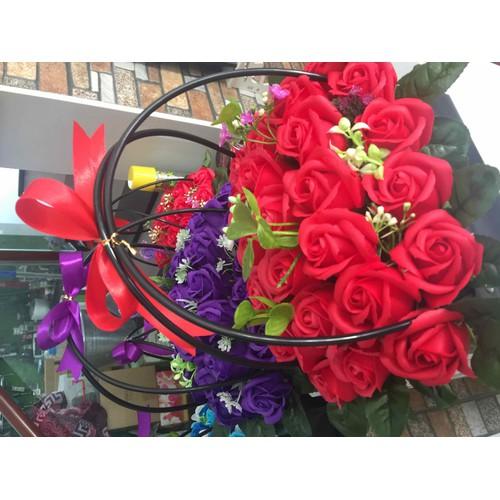 giỏ hoa hồng sáp thơm 3 lớp 29 bông - 6280249 , 16394648 , 15_16394648 , 230000 , gio-hoa-hong-sap-thom-3-lop-29-bong-15_16394648 , sendo.vn , giỏ hoa hồng sáp thơm 3 lớp 29 bông