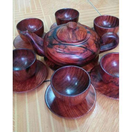 Bộ ấm chén - Bộ ấm trà gỗ trắc cao cấp