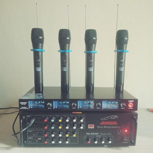 Micro khồng dây SH238 4 tay mic
