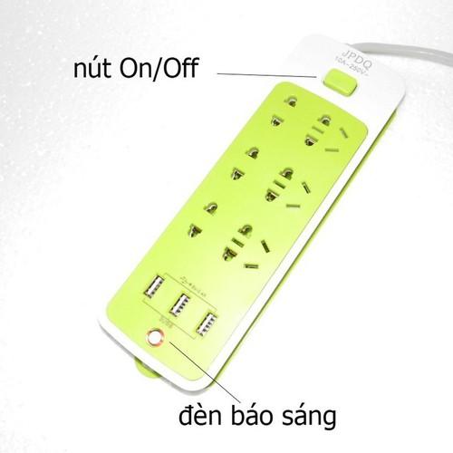 Ổ Cắm Điện - Ổ cắm điện thông minh 6 Phích Cắm Và 3 Cổng USB