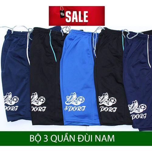 COMBO 3 Quần đùi nam - quần short nam vải thun thể thao sporrt