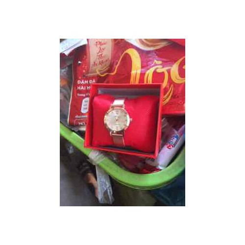 Đồng hồ Nữ Prema Japan Mặt số đính đá sang trọng,- Tặng kèm hộp + Pin