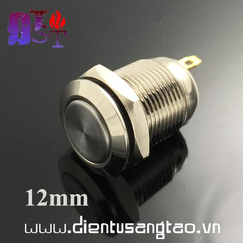 Nút nhấn nhả 12mm vỏ kim loại chống gỉ v1