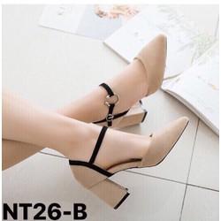Giày sandal HuuCuong 2 khóa màu đen đế trấu handmade