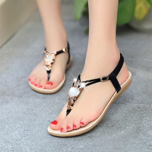 giày sandal cú mèo mặt đá