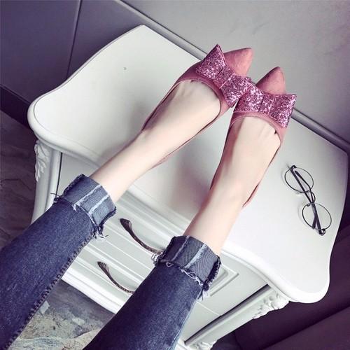 Giày cao gót bít nơ cao cấp [Siêu giảm giá]