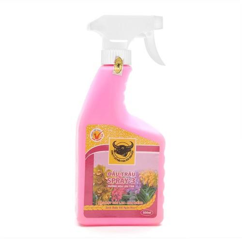 Phân bón lá đầu trâu SPRAY-3 đặc biệt cho lan dưỡng hoa lâu tàn - 500ml