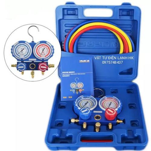 Bộ đồng hồ nạp - đo áp suất gas lạnh Value VMG-2-R22-B