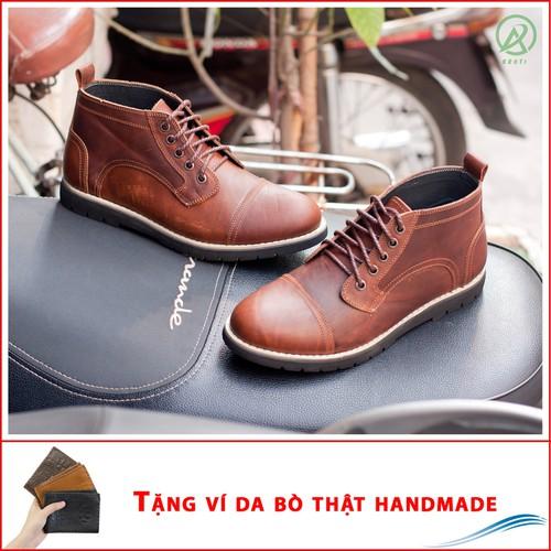 Giày boot da sáp cổ lửng màu nâu bò BL538-V-020319 - 6294225 , 16408366 , 15_16408366 , 1230000 , Giay-boot-da-sap-co-lung-mau-nau-boBL538-V-020319-15_16408366 , sendo.vn , Giày boot da sáp cổ lửng màu nâu bò BL538-V-020319