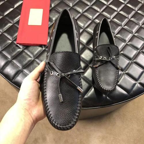 Giày lười Da thắt nơ ngang màu Đen sang trọng phù hợp cho nam giới đi học đi làm cũng như đi chơi