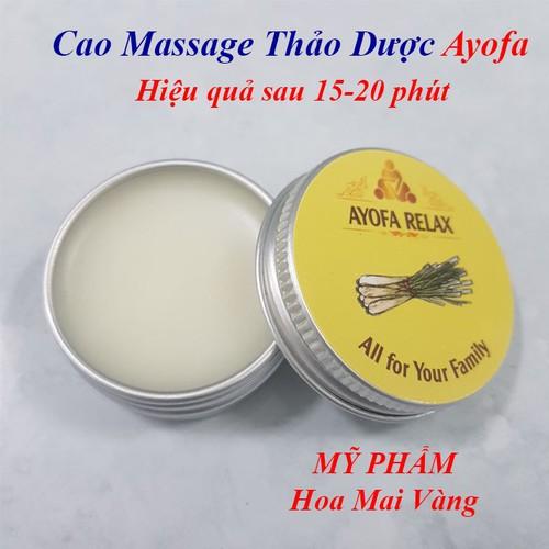 Cao Massage thảo được Ayofa, Dầu xoa bóp đa công dụng mùi Xả - 4711978 , 16407225 , 15_16407225 , 170000 , Cao-Massage-thao-duoc-Ayofa-Dau-xoa-bop-da-cong-dung-mui-Xa-15_16407225 , sendo.vn , Cao Massage thảo được Ayofa, Dầu xoa bóp đa công dụng mùi Xả